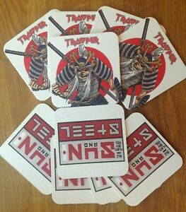 10-off-IRON-MAIDEN-SUN-and-STEEL-TROOPER-BEER-beer-mat-coaster-limited-available