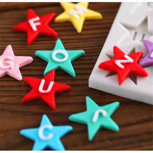 Pentagram Letter Silicone Mould Fondant Cake Chocolate Cookies Baking Tool ONE
