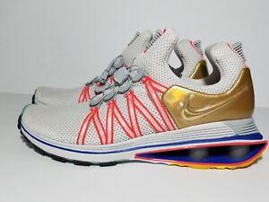 f466ba21a79 NEW NIKE Shox GRAVITY Casual running Shoes AQ8553-009 WHITE GOLD ...