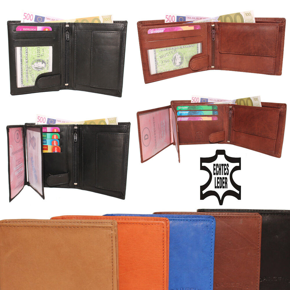Leather Wallet Purse Wallet Ladies Men's Cattle Leather New