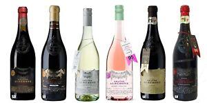 Grande-Alberone-Weiss-Rose-4-x-Rot-13-15-vol-Flasche-6-x-75cl