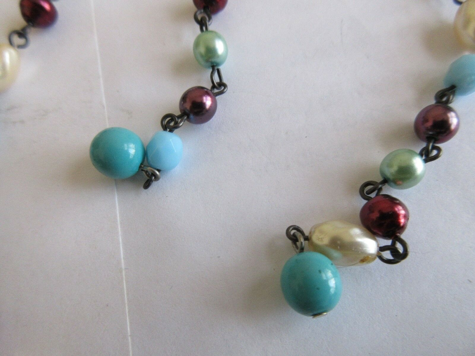 """Ladies Necklace , Vintage , Beads , 48"""" Long"""