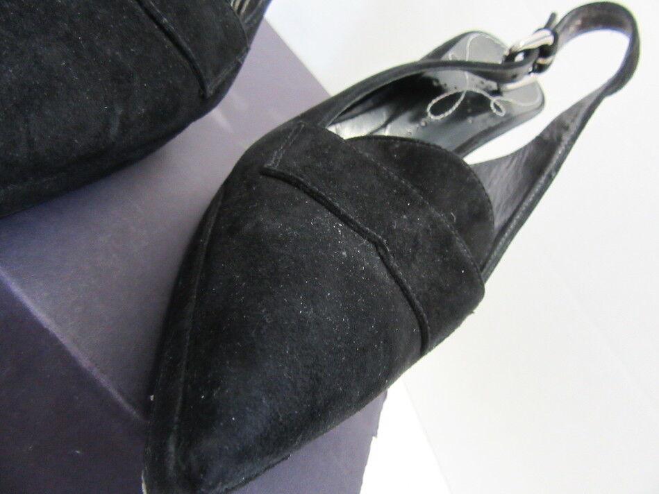 PRADA 39 BLACK SUEDE SLINGBACKS SZ 39 PRADA c3b977