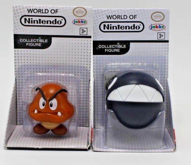 Jakks Pacific World Of Nintendo 2.5 Figure Super Mario Chain Chomp Goomba Set