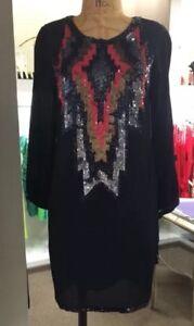 Anthropology-New-Holiday-BNWT-Yoana-Baraschi-Black-Tunic-Dress-Originally-482