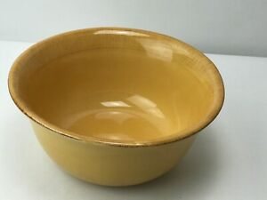 Pier-1-Imports-Medium-Serving-Bowl-Toscana-Gold-Italy-Handpainted-Earthenware