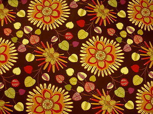 Mpress Large Vibrant Funky Mod Contemporary Floral Print Upholstery
