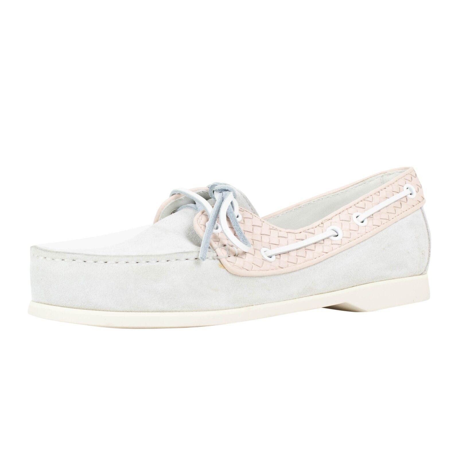 Nuevo En Caja Bottega Veneta pálido Niebla Gamuza Zapatos Náuticos Náuticos Náuticos 9 39  595  ventas en línea de venta