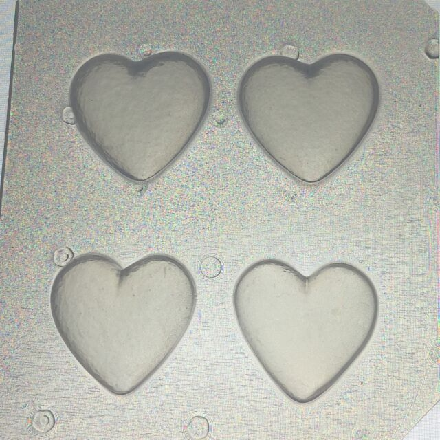 Flexible Resin Mold Small Bubble Heart Set of 4