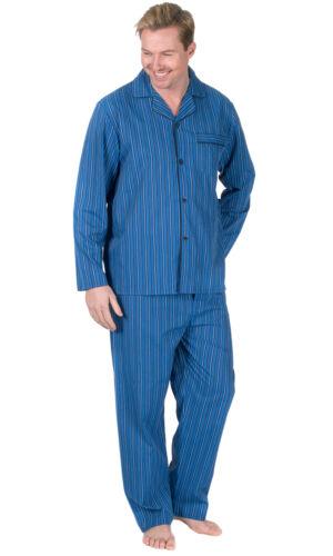 Mens Traditional Woven PJ Pyjama Set Night Wear PJ/'s Pyjamas Sets Gents Printed
