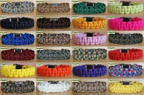 Huge Choice of Colours 550 PARACORD BRACELET KIT