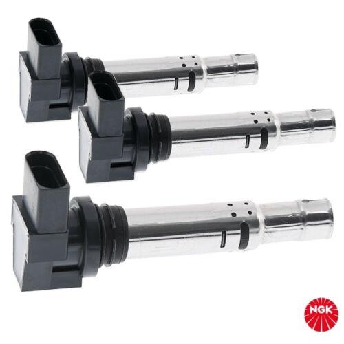 3x NGK bobina zündmodul u5002 4 pines SAE para VAG AUDI SEAT SKODA VW //// 48003