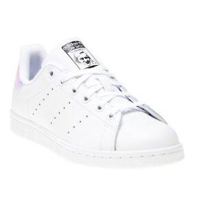 193480903889 Image is loading New-Girls-adidas-White-Stan-Smith-Leather-Trainers-