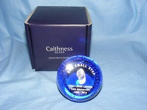 Caithness-Paperweight-Moon-Landing-One-Small-Step-50th-Anniversary-U19078-NEW