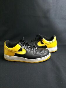 Details about Nike Air Force 1 AF1 Black Yellow Sneakers Shoes 315122-071  Men's Size 11.5