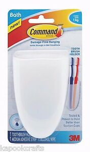 3M COMMAND TOOTHBRUSH RAZOR HOLDER WITH WATER-RESISTANT ...