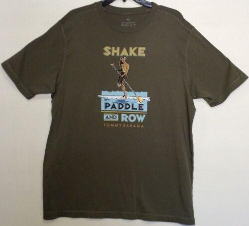 TOMMY BAHAMA Men/'s T-Shirt Paddling Kayaking Hawaiian SHAKE PADDLE ROW