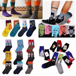 Fashion-Famous-Painting-Art-Socks-Novelty-Funny-Novelty-For-Men-Women-Cool