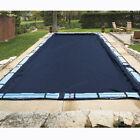30'x50' Rectangle Economy Inground Pool Winter Cover - No Tubes - 8 Yr Warranty