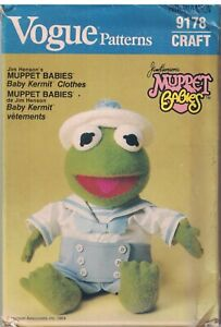 9178-Vintage-Vogue-Sewing-Pattern-Muppet-Baby-Kermit-the-Frog-Clothes-UNCUT-OOP
