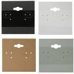 Image Is Loading Black White Kraft Or Grey Hanging Earring Cards