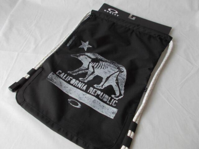 Nwt Oakley California Republic Sling Book Bag Black School Travel Sport Backpack