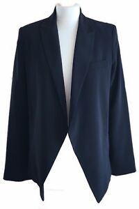 Topshop-Black-Boyfriend-Slouchy-Tuxedo-Lagenlook-Open-Front-Blazer-Jacket-8-10