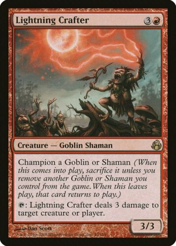 Lightning Crafter Morningtide NM Red Rare MAGIC THE GATHERING CARD ABUGames