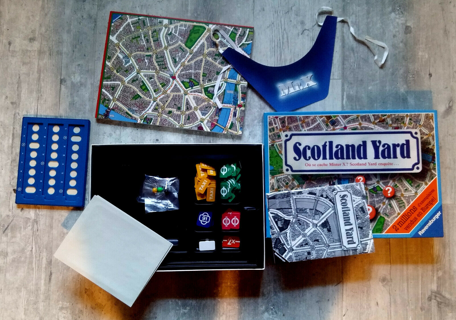 Scotland Yard Jeu Ravensburger 1984 COMPLET TRES BON ETAT collection
