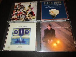 Lot-of-4-Original-ELTON-JOHN-Love-Songs-Duets-Reg-Strikes-Back-CD-400ML-1