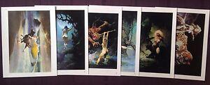 1996-Frank-Frazetta-Wild-Women-Lot-set-of-6-different-art-print-lithographs