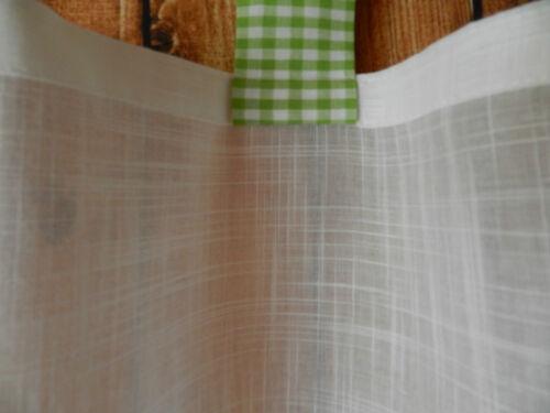 135 cm large Disques Rideau avec passants de Vichy Carreaux-blanc//vert citron-Env