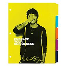 ONE DIRECTION Office Depot Against Bullying Dividers pack of 5 - NEW
