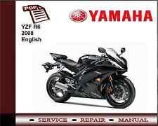 Yamaha YZF R6 YZFR6 2008 Workshop Service Repair Manual