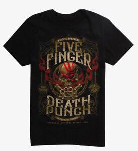 Five-Finger-Death-Punch-5FDP-100-PURE-CREST-T-Shirt-NEW-Authentic-amp-Official