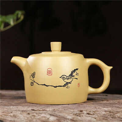 Chinese Yixing Zisha Purple Clay Hand Drawing Wang Zhao Jun Beauty Gongfu Teapot
