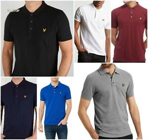 Men-039-s-Lyle-and-Scott-Short-Sleeve-Polo-Shirt-Clarence-Sale