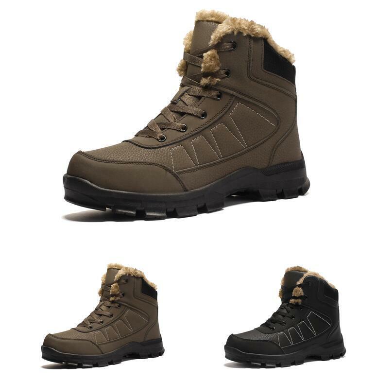 Herrenschuhe Outdoor Ankle Stiefel Schneestiefel Wandern Bergsteigen Camping 46 47