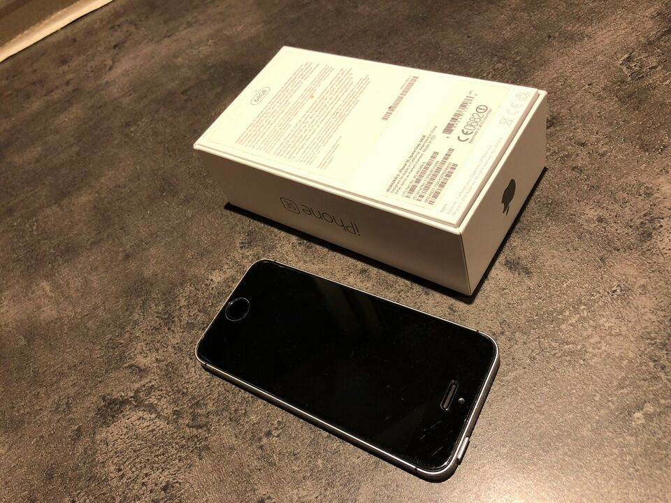 iPhone SE, 64 GB, sort