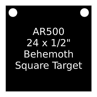 """AR500 Steel Target Square Gong 1//4/"""" X 24/"""""""