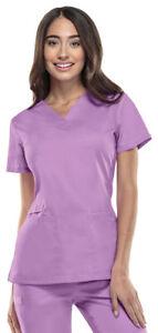 Cherokee-Workwear-Flex-Women-039-s-V-Neck-Scrub-Top-44700A-Pick-Size-amp-Color