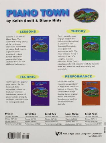 """/""""PIANO TOWN-THEORY LEVEL 4/"""" METHOD MUSIC BOOK-INSTRUCTIONAL-BRAND NEW ON SALE!!"""