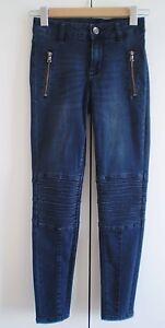 Just-Jeans-NWOT-Pintuck-Moto-Skinny-Jean-Size-6
