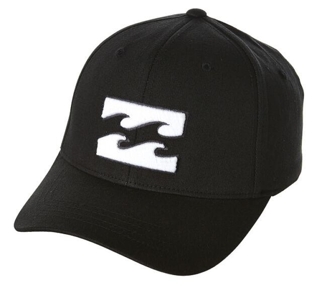 NEW + TAG BILLABONG MENS BOYS ALL DAY L-XL BLACK CURVED PEAK FLEXFIT CAP HAT