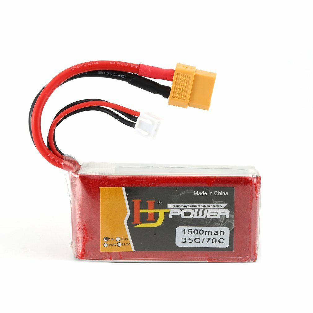 ZOP Power 7.4V 2200mAh 35C 2S Lipo Bater/ía T Enchufe Para RC Helic/óptero Drone Car