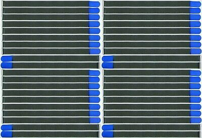 40 X Kabelklett Klettband 800 X 50 Mm Blau Fk Klett Band Kabelbinder Klettbänder