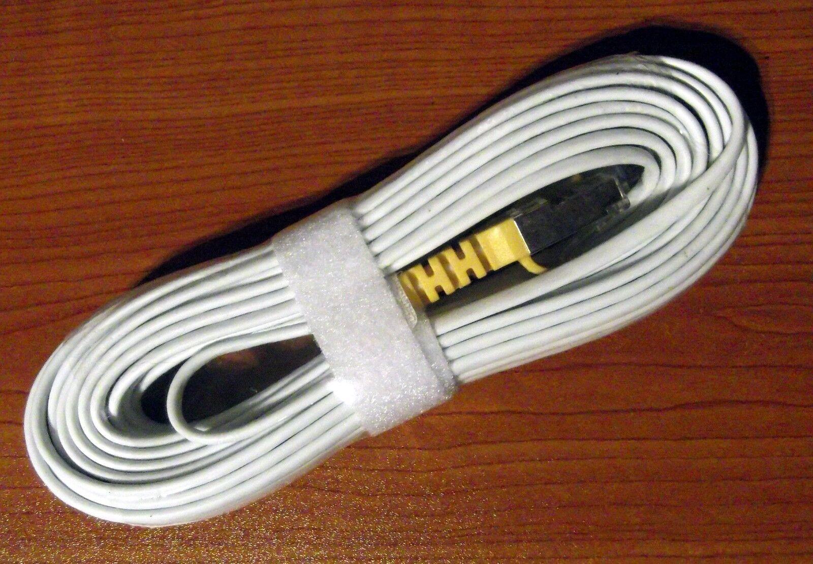 10m Lightweight Discreet Ethernet Cable/RJ45 For Streaming / IPTV / Media - BNIB