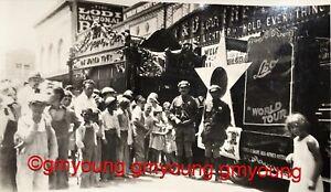 Lodi-CA-1930-Photo-Sacramento-St-T-amp-D-Theater-LEO-the-LION-Movie-World-Tour