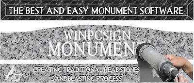Winpcsign Monument Software Create Traditional Headstones Ebay