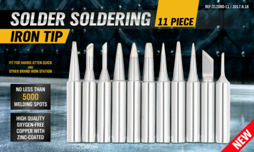 11Pc Soldering Iron Tips Solder Rework Lead Free Hakko Soldering Station AU